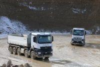 Baufahrzeugtest Mercedes-Benz
